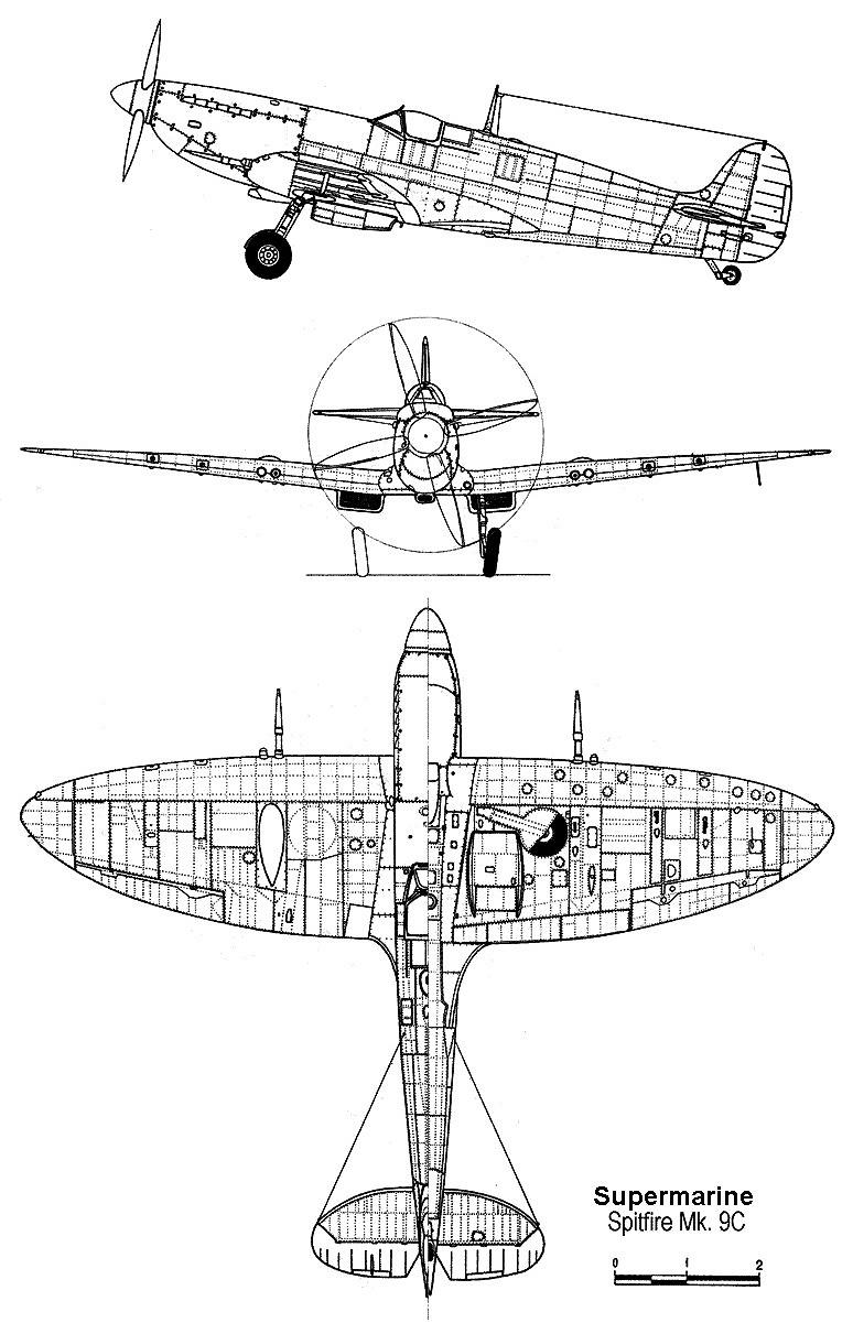 Spitfire Mk Ix on Engine Exploded View Drawing