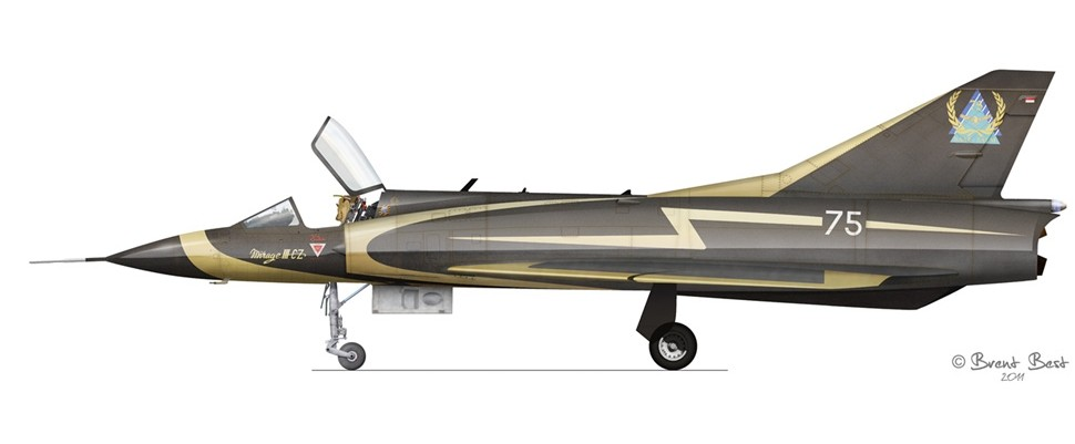 Mirage III CZ 800 (cn 149) Special colour scheme to celebrate the